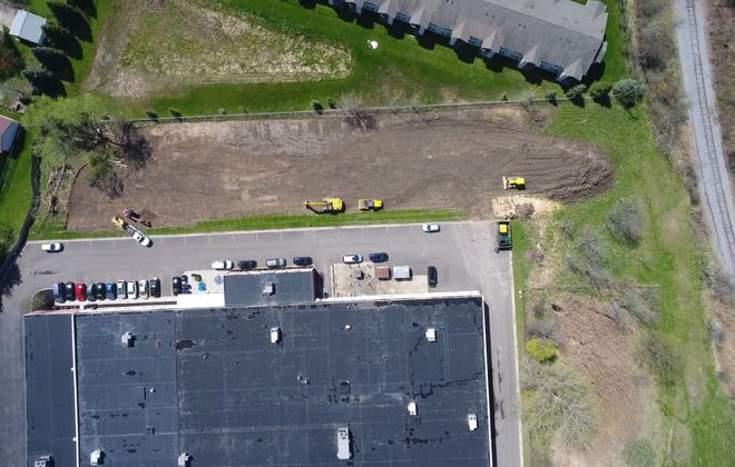 An aerial view of the site from Google Earth. (Image courtesy of Global Concepts Charter School)