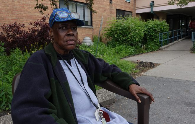 The New York State Department of Health, which has cited Oakwood Senior Living for numerous violations, is trying to shut down the facility that houses 103 adults, including Deborah Parker.  (John Hickey/Buffalo News)