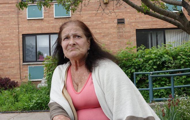 Diane Holland, a resident at Oakwood Senior Living, in Town of Tonawanda, on Thursday, May 30, 2019. (John Hickey/Buffalo News)