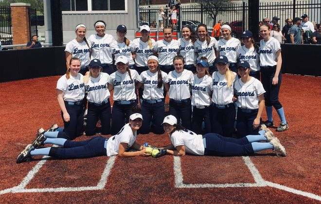 The St. Mary's softball team has been ranked No. 1 in New York State in Class C all season and advanced to the Monsignor Martin championship game with a 5-4 win over Sacred Heart on Sunday, May 19, 2019, at D'Youville College. (Jonah Bronstein/Buffalo News)