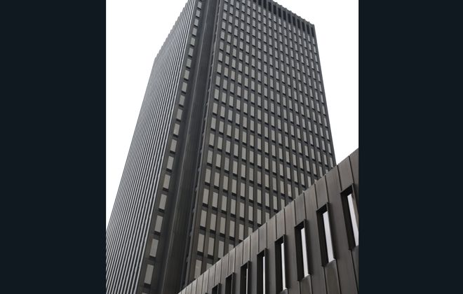 Pay2Park, the parking lot operator owned by developer Mark Croce, is taking over the management of the Main Place Tower parking garage, gaining more than 1,000 spaces in an expansion of the 12-year-old brand.  (John Hickey/Buffalo News file photo)