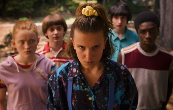 "The third season of ""Stranger Things"" premieres July 4 on Netflix. Starring are Sadie Sink, Noah Schnapp, Millie Bobby Brown, Finn Wolfhard and Caleb McLaughlin. (Netflix)"