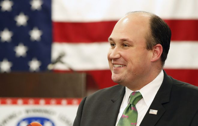 Nick Langworthy, chairman of the New York State Republican Party. (Harry Scull Jr./News file photo)