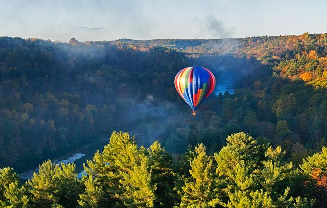 Float on: Letchworth by hot air balloon