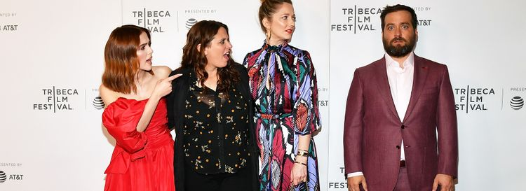 """Buffaloed"" star and producer Zoey Deutch, director Tanya Wexler, star Judy Greer and writer and Lockport native Brian Sacca. (Photo by Slaven Vlasic/Getty Images for Tribeca Film Festival)"