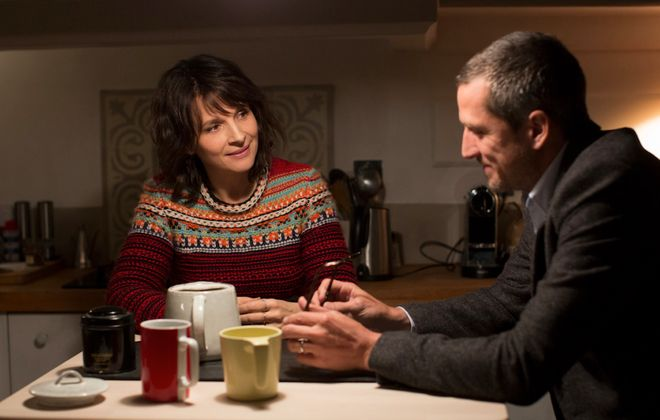"""Juliette Binoche and Guillaume Canet star in """"Non-Fiction,"""" the latest film from director Olivier Assayas. (Photo courtesy of IFC Sundance Selects)"""