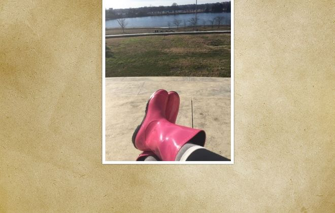 Readers picked these  pink rain boots as their No. 1 choice in our latest Reader Challenge.  (Photo courtesy Annette Martell)