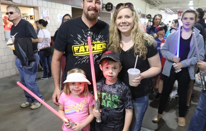"""""""Star Wars"""" night with the Bisons is an annual tradition for many families.  (James P. McCoy / Buffalo News file photo)"""