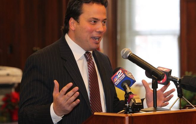 County Comptroller Stefan Mychajliw's Freedom of Information Law request gave him details he is using to pummel the county executive over his book detailing Bills lease negotiations. (Sharon Cantillon/News file photo)