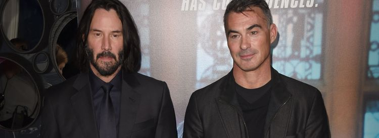 """Jeff Simon confesses he is """"inordinately fond of the whole 'John Wick' series from star Keanu Reeves, left, and filmmaker Chad Stahelski. (Photo by Stuart C. Wilson/Getty Images)"""