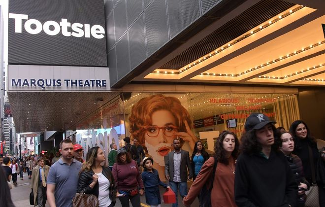 """""""Tootsie,"""" which opened on Broadway in the Marquis Theatre on April 23, 2019, is coming to Shea's Buffalo Theatre. (Getty Images)"""