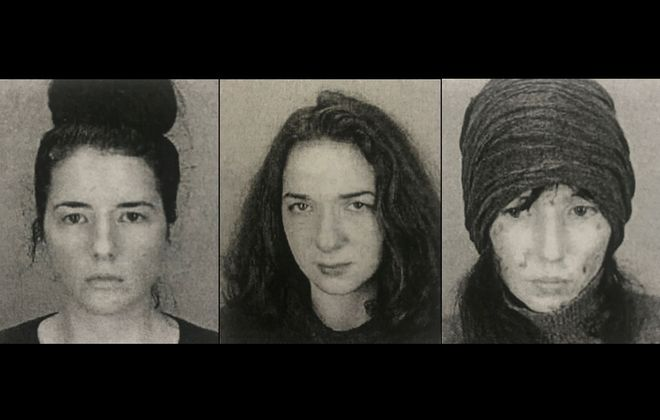 The Pietrocarlo sisters. From left, Grace, Annabel and Elissa.