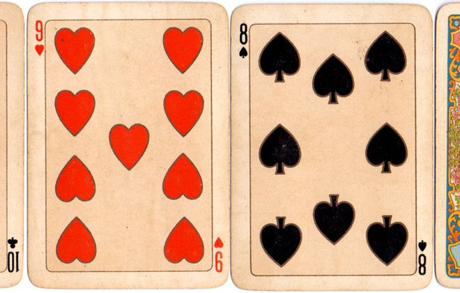 1897 playing cards celebrating Queen Victoria's Diamond Jubilee.