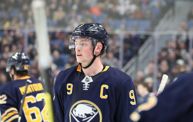 Jack Eichel is looking to end the Sabres' playoff drought. (James P. McCoy/News file photo).