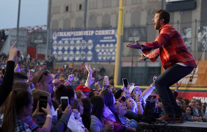 The Taste of Country will return to Sahlen Field this year - just a bit later than normal. Pictured is Brett Eldredge at the 2019 event. (Mark Mulville/News file photo)