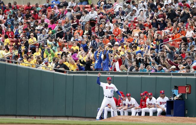 Fans sitting down the foul lines behind the bullpens in Sahlen Field will now be protected by netting. (Mark Mulville/News file photo)