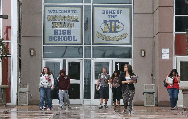The median salary for teachers in Niagara Falls is more than $93,000, and is the highest in Erie and Niagara counties, where the median salary was still more than $73,000. But too often, taxpayers are not getting premium results for premium costs. (News file photo)