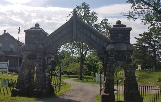 The gate of Glenwood Cemetery in Lockport. (Thomas J. Prohaska/The Buffalo News)