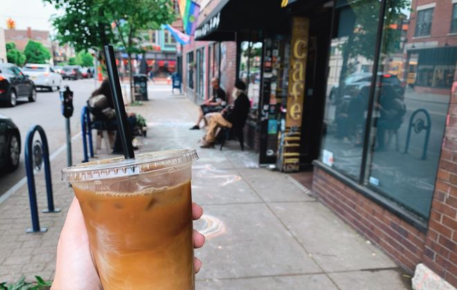 For a traditional iced coffee and to stay up to date with cultural events in the area, visit Allentown's the Intersection Cafe. (Francesca Bond/Buffalo News)