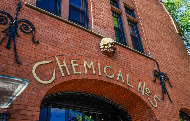 Only one of Buffalo's original seven fire houses designed specifically to fight fires with chemical solutions still stands today: Chemical No. 5 on Cleveland Avenue, now a private residence. (Dave Jarosz)