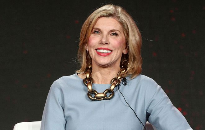 "Christine Baranski of the television show ""The Good Fight"" speaks during the CBS segment of the 2019 Winter Television Critics Association Press Tour at the Langham Huntington, Pasadena on Jan. 30, 2019, in Pasadena, Calif. (Frederick M. Brown/Getty Images)"
