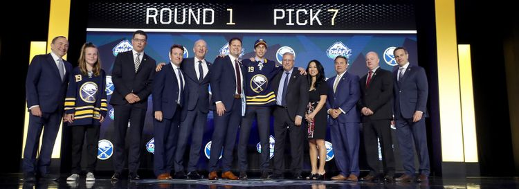 The Sabres selected Dylan Cozens seventh overall at the draft in Vancouver last June. (Bruce Bennett/Getty Images)