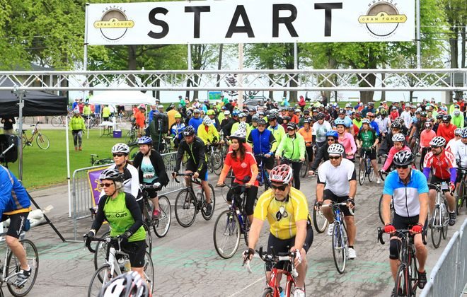 About 700 bikers are expected to participate June 15 in the Grand Fondo to benefit Niagara Hospice, one of the nonprofit's biggest fundraisers of the year. (Photo courtesy of Niagara Hospice)