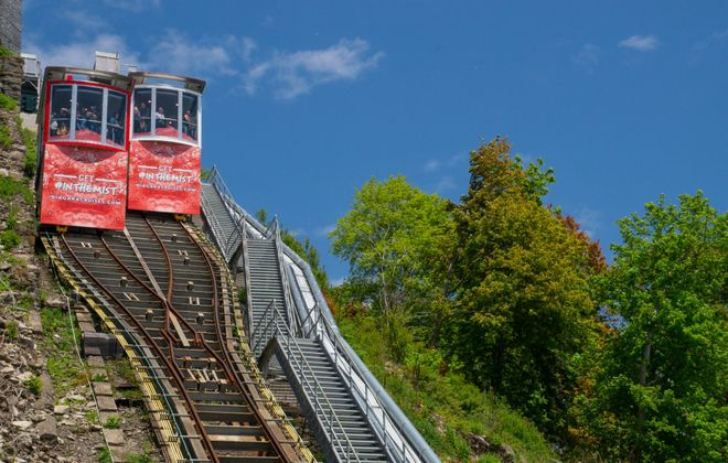 The new Clifton Hill funicular opened in Niagara Falls, Ont., on June 18, 2019. (Contributed photo)