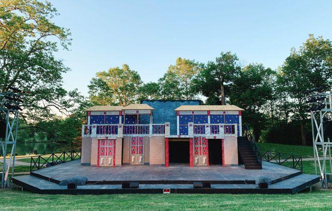 "The set for ""The Tempest"" at Shakespeare in Delaware Park. (Francesca Bond/Buffalo News)"