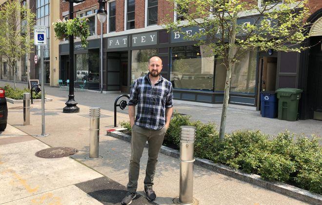 Nik Fattey is the majority partner in Fattey Beer Co., set to open in June on Genesee St. (Ben Tsujimoto/Buffalo News)