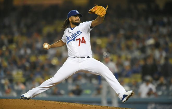 Kenley Jansen has been dominant out of the Dodgers bullpen (Getty Images).
