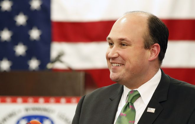 Nicholas A. Langworthy is taking over Monday as state GOP leader amid a push by some to have his wife, political operative Erin K. Baker, replace him as Erie County party leader. (Harry Scull Jr. /News file photo)