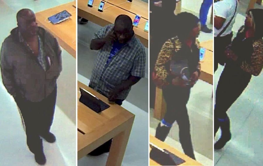 Cheektowaga police said these two people stole thousands of dollars in headphones from the Apple Store in the Walden Galleria. (Cheektowaga Police)