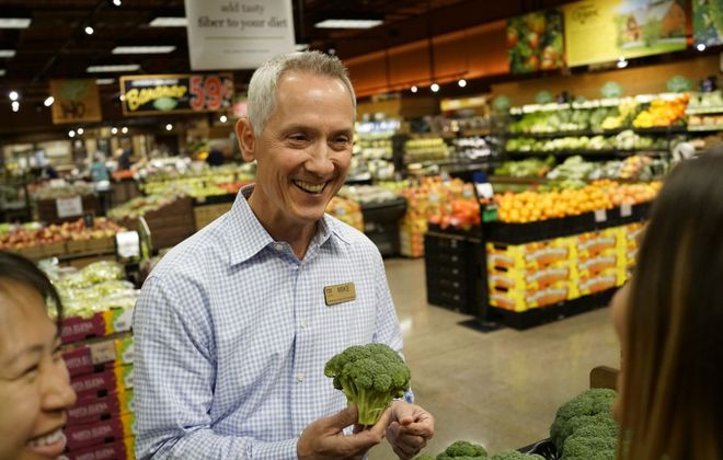Mike Keating, senior vice president of operations for Wegmans' Buffalo division, has seen a lot of changes during his 44 years in the grocery business. (Derek Gee/Buffalo News)