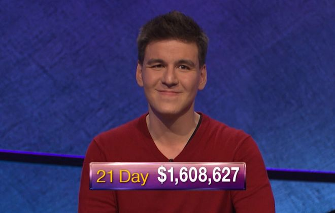 """Jeff Simon writes we learned James Holzhauer is """"a man, not a robot. A rich one whose imprint will be forever on the game he played."""" (Handout courtesy of Jeopardy Productions)"""