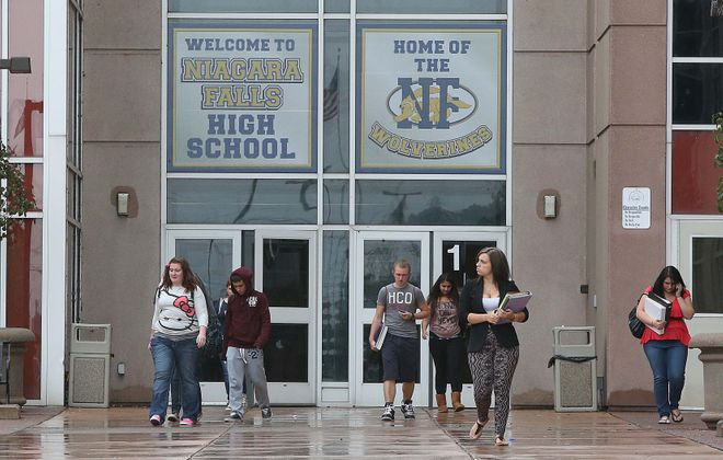 Teachers in the Niagara Falls School District have the highest median salary in the area.  (Robert Kirkham/News file photo)