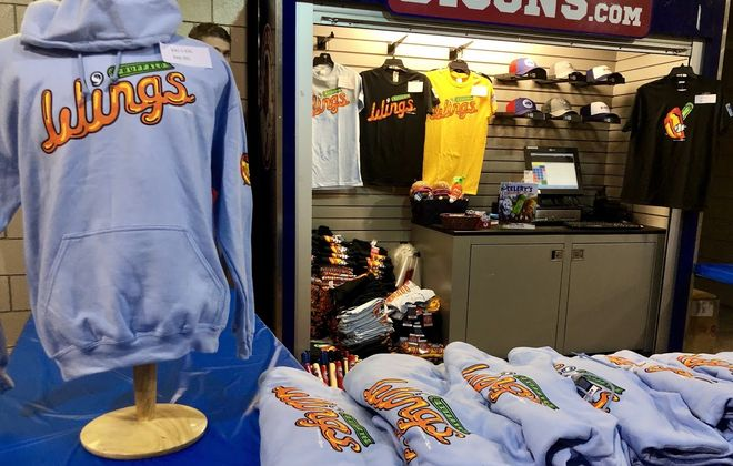 The Bisons are debuting new alternative Wings merchandise for this season (Photo courtesy of the Buffalo Bisons)