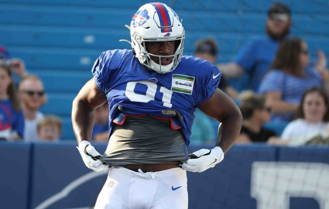 Bills defensive tackle Ed Oliver is still taking part in the team's offseason program. (James P. McCoy/News file photo)