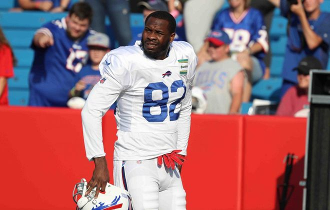 Bills receiver Duke Williams is still generating fan interest while he's on the team's practice squad. (James P. McCoy/News file photo)