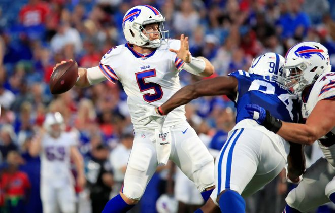 Bills quarterback Matt Barkley is heading into the final year of his contract. (Harry Scull Jr./Buffalo News)