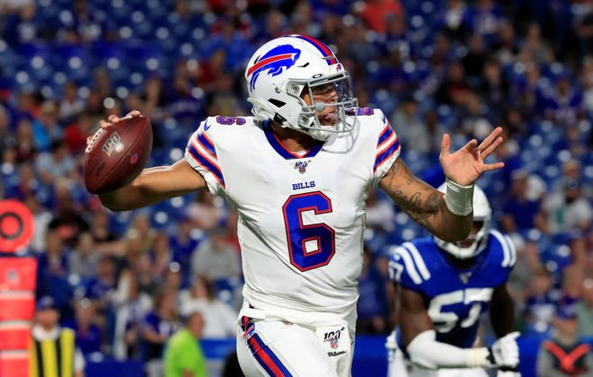 Bills quarterback Tyree Jackson is expected to play the entire game Thursday night in the preseason finale. (Harry Scull Jr./Buffalo News)