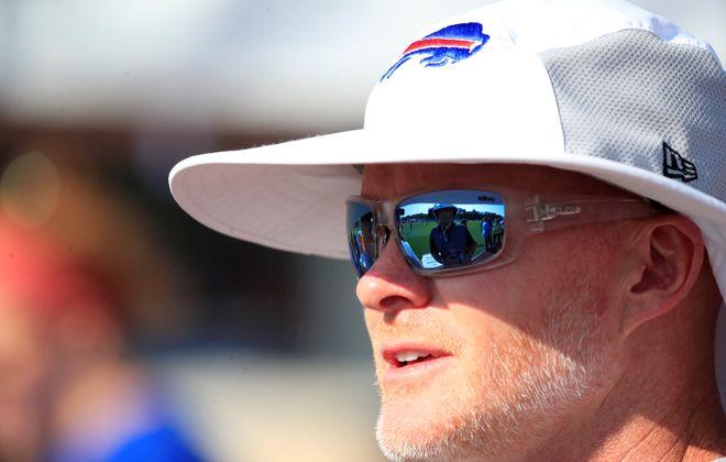 Bills head coach Sean McDermott leads his team into the preseason Thursday night against the Colts. (Harry Scull Jr./Buffalo News)