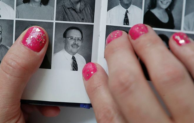 A photo of former Niagara Falls public schools music teacher Patrick Kuciewski from a Niagara Falls Middle School yearbook. Kuciewski has been accused of molesting two female students in two Child Victims Act lawsuits. (Sharon Cantillon/Buffalo News)