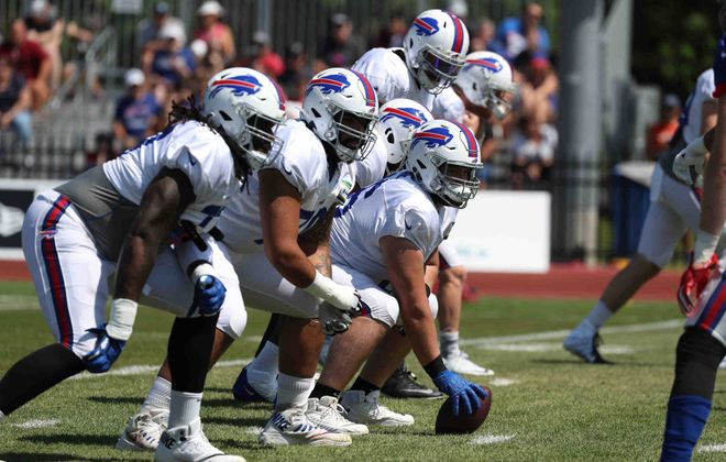 The Buffalo Bills return all five starters along their offensive line in 2020. (James P. McCoy/News file photo)