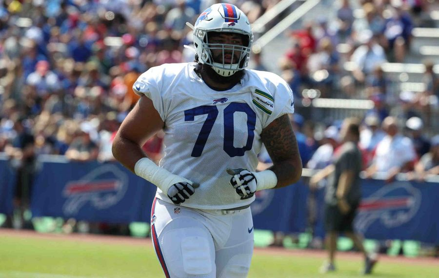 Buffalo Bills offensive tackle Cody Ford. (James P. McCoy/News file photo)