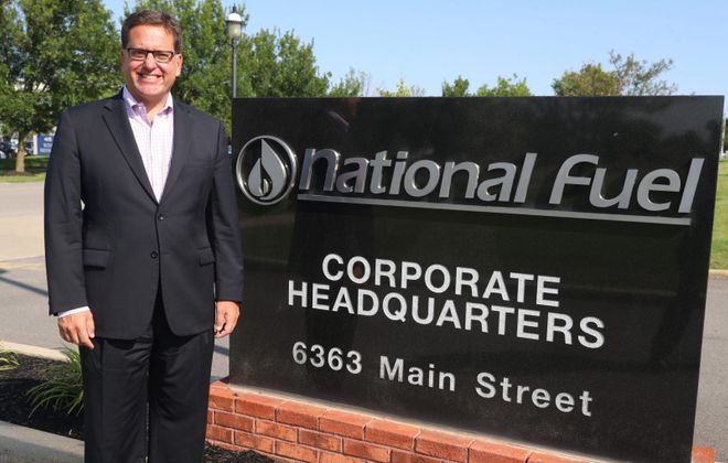 David Bauer at National Fuel headquarters in Williamsville. (John Hickey/News file photo)