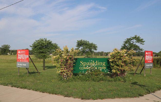 The former Spaulding Fibre site in the City of Tonawanda closed in 1992. (John Hickey/Buffalo News)