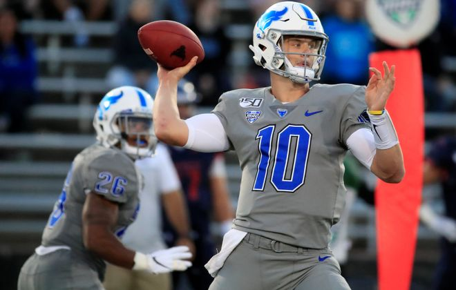 Matt Myers, a redshirt freshman from West Seneca West, sustained an upper-body injury Sept. 28 in a 34-20 loss at Miami (Ohio) in UB's Mid-American Conference opener. (Harry Scull Jr./Buffalo News file photo)