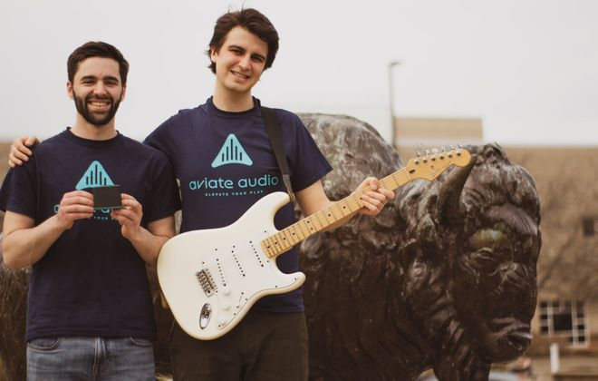 Ryan and Shane were the 2018 Grand Prize winners of 43North's Panasci Entrepreneurial Competition. (Aviate Audio)