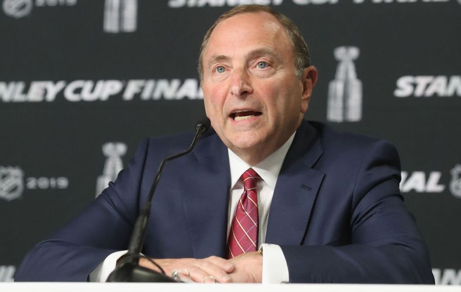 """Gary Bettman on No Goal: """"I understand people in Buffalo feel badly about it and have differing recollections in terms of what was right and wrong."""" (Getty Images)"""